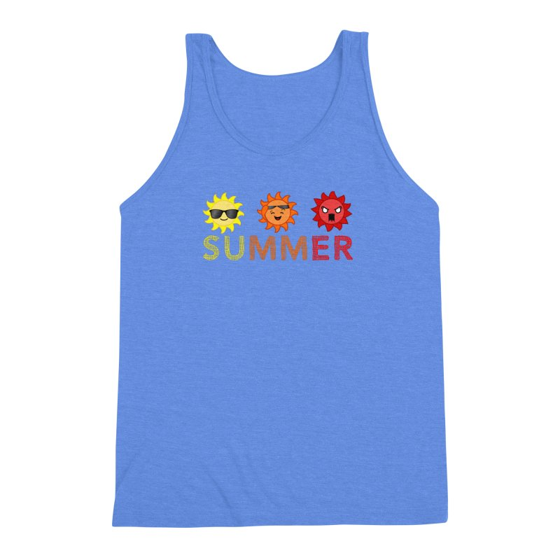 Summer time Men's Triblend Tank by TerrificPain's Artist Shop by SaulTP