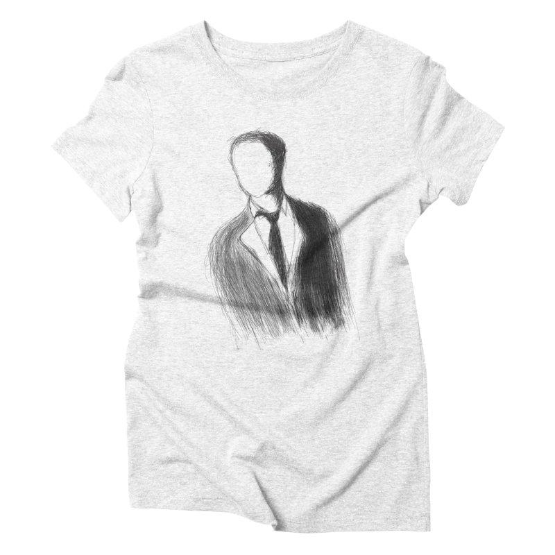 Mysterious man Women's Triblend T-shirt by TerrificPain's Artist Shop