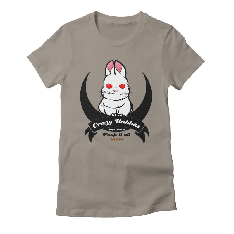 Crazy Rabbits Women's Fitted T-Shirt by TerrificPain's Artist Shop by SaulTP