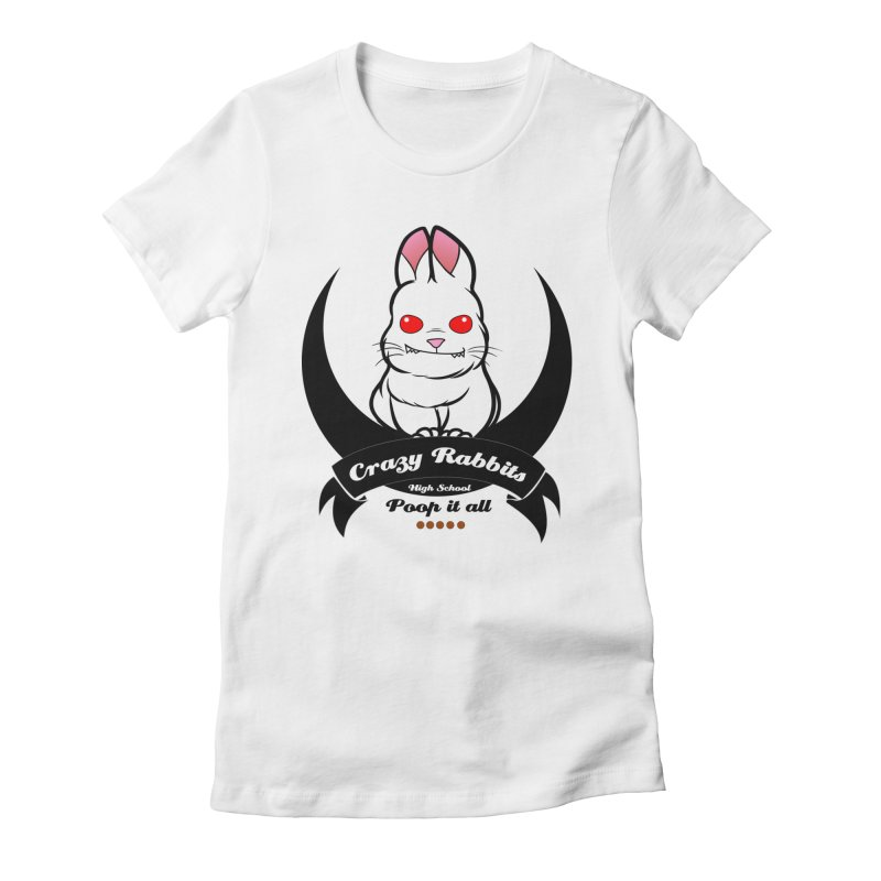 Crazy Rabbits Women's Fitted T-Shirt by TerrificPain's Artist Shop