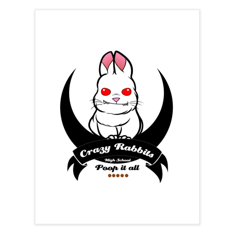 Crazy Rabbits Home Bath Mat by TerrificPain's Artist Shop