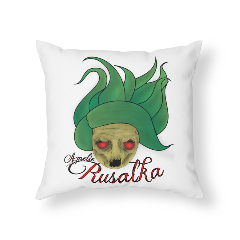 Amelie Rusalka Home Throw Pillow by TerrificPain's Artist Shop by SaulTP