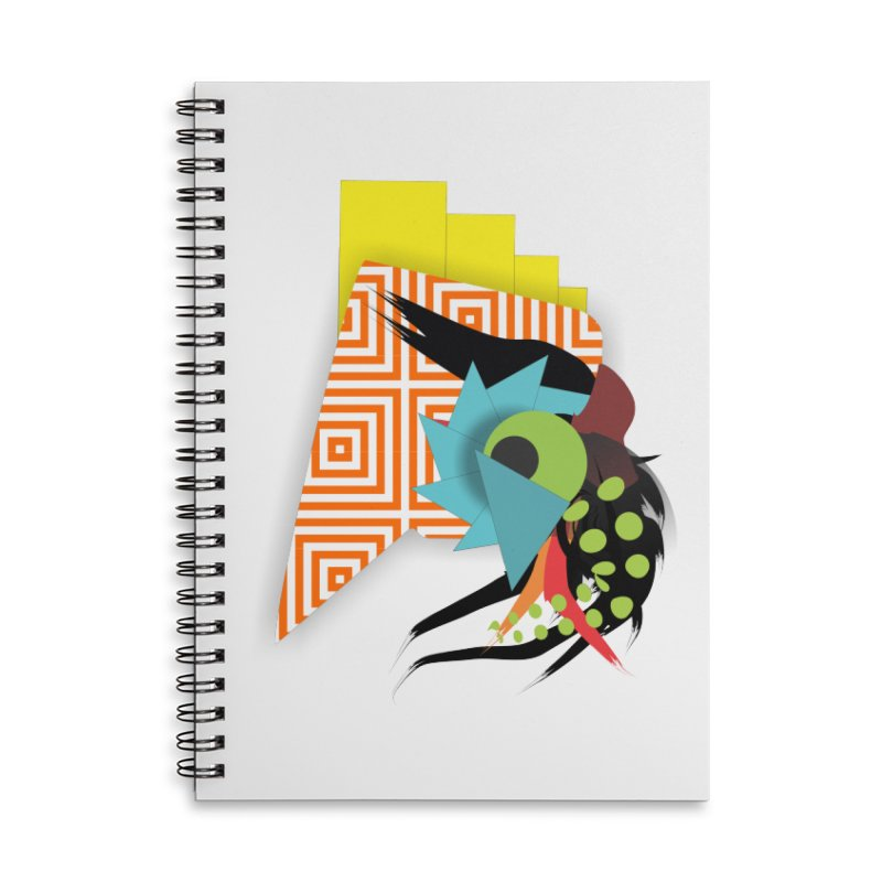 Monster Accessories Lined Spiral Notebook by TerrificPain's Artist Shop by SaulTP