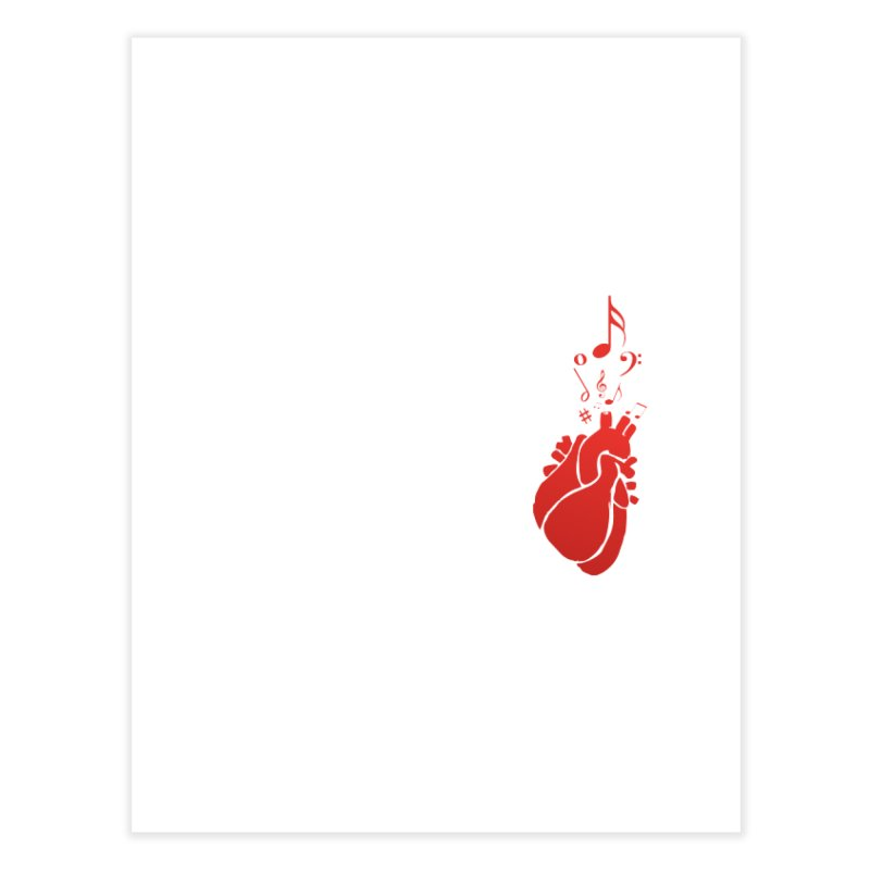 Heart Beat Home Fine Art Print by TerrificPain's Artist Shop by SaulTP