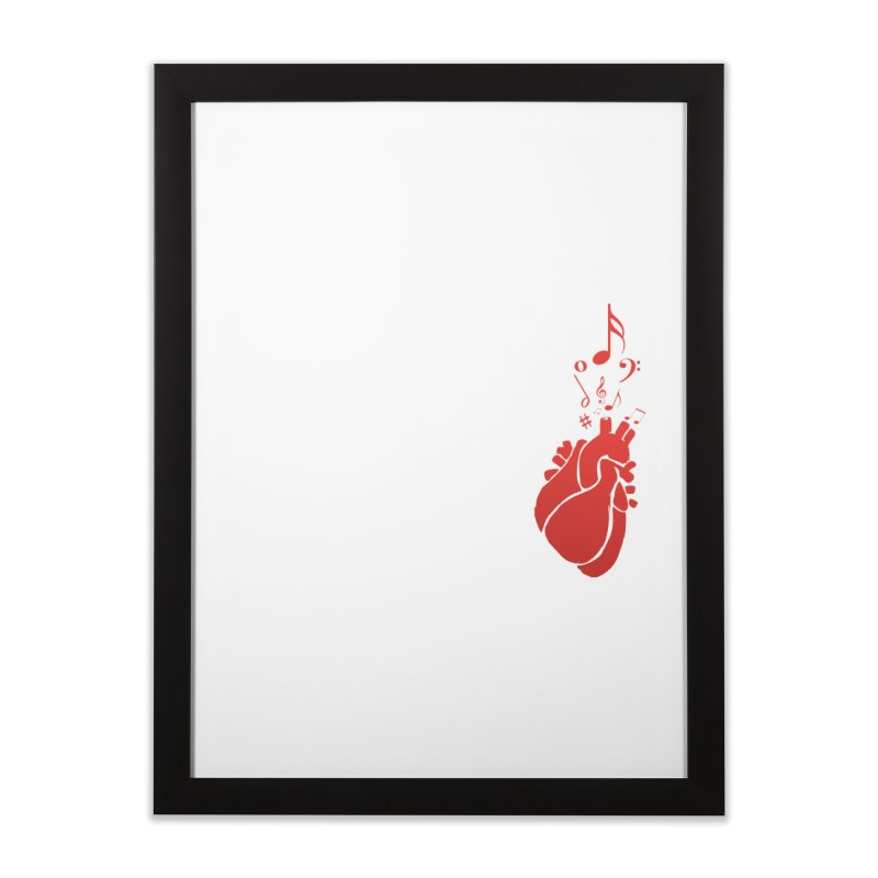 Heart Beat Home Framed Fine Art Print by TerrificPain's Artist Shop by SaulTP