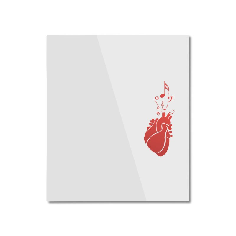 Heart Beat Home Mounted Aluminum Print by TerrificPain's Artist Shop by SaulTP