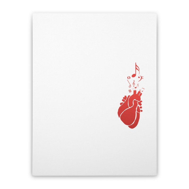 Heart Beat Home Stretched Canvas by TerrificPain's Artist Shop