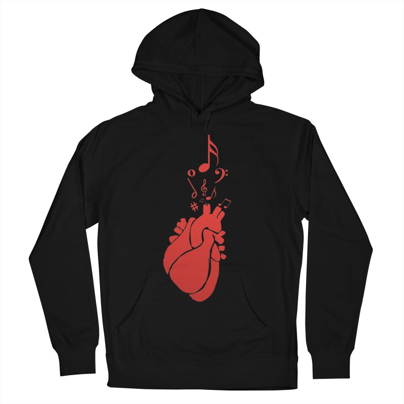 Heart Beat Men's French Terry Pullover Hoody by TerrificPain's Artist Shop