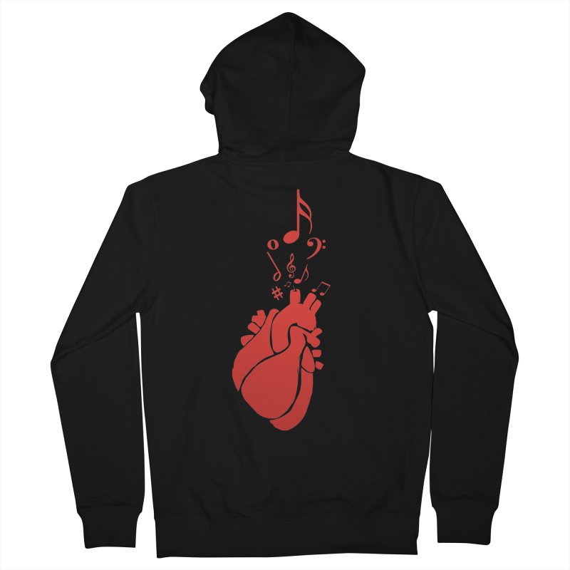 Heart Beat Women's Zip-Up Hoody by TerrificPain's Artist Shop