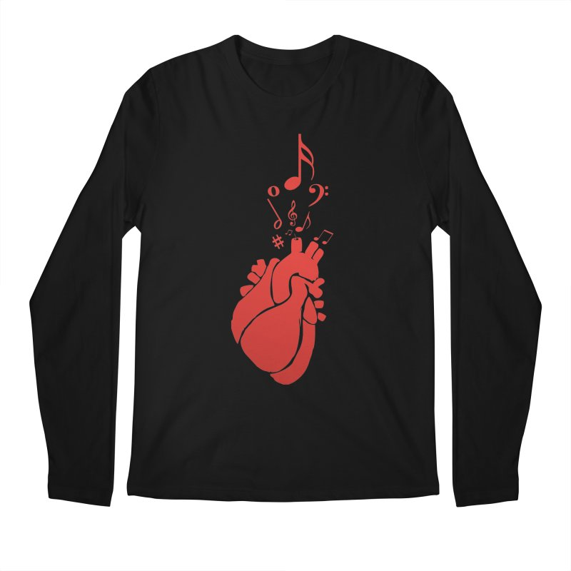 Heart Beat Men's Longsleeve T-Shirt by TerrificPain's Artist Shop