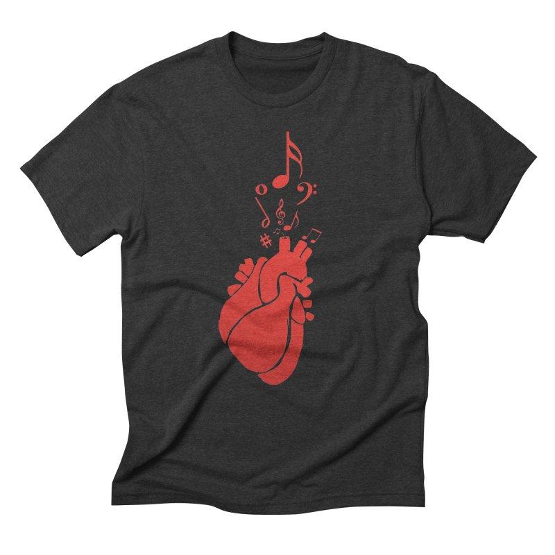 Heart Beat Men's Triblend T-Shirt by TerrificPain's Artist Shop by SaulTP