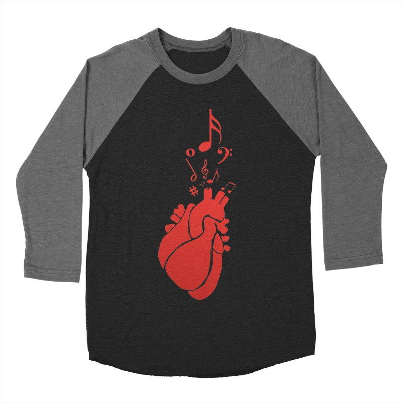 Heart Beat Men's Baseball Triblend T-Shirt by TerrificPain's Artist Shop