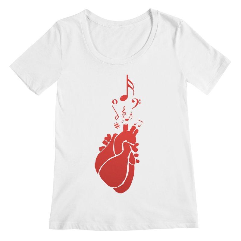 Heart Beat Women's Scoopneck by TerrificPain's Artist Shop