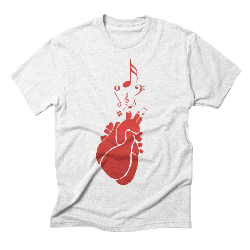 Heart Beat Men's Triblend T-shirt by TerrificPain's Artist Shop
