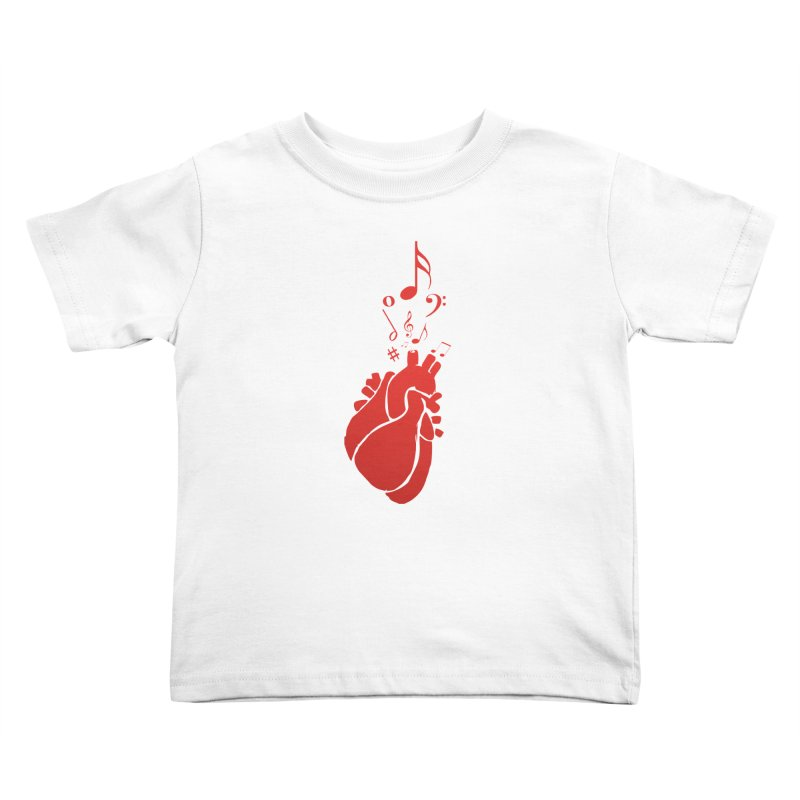 Heart Beat Kids Toddler T-Shirt by TerrificPain's Artist Shop by SaulTP