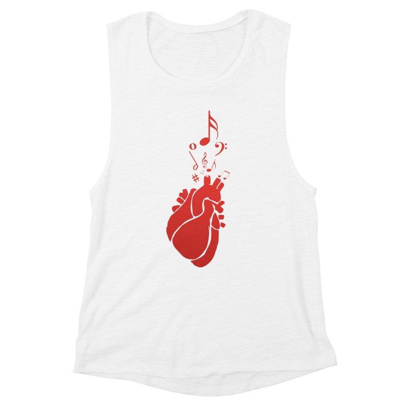 Heart Beat Women's Muscle Tank by TerrificPain's Artist Shop by SaulTP
