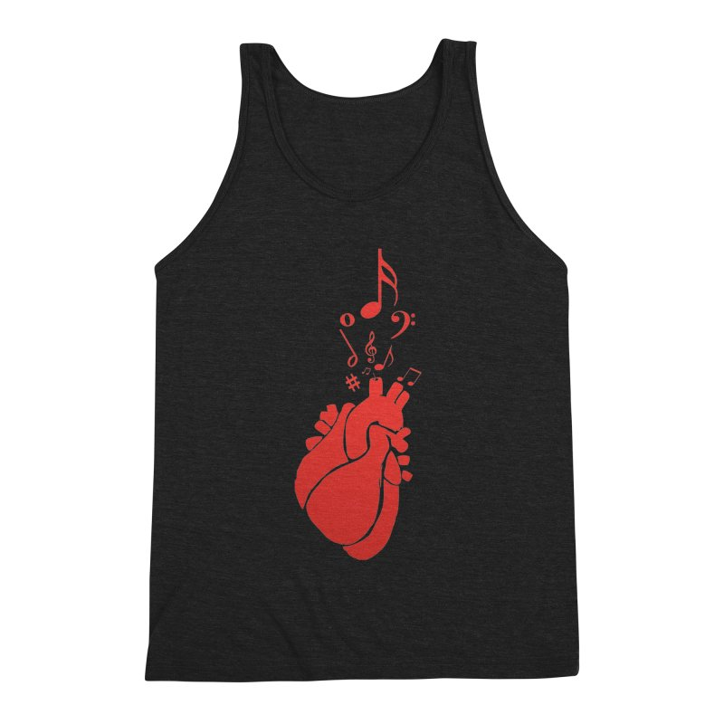 Heart Beat Men's Triblend Tank by TerrificPain's Artist Shop by SaulTP