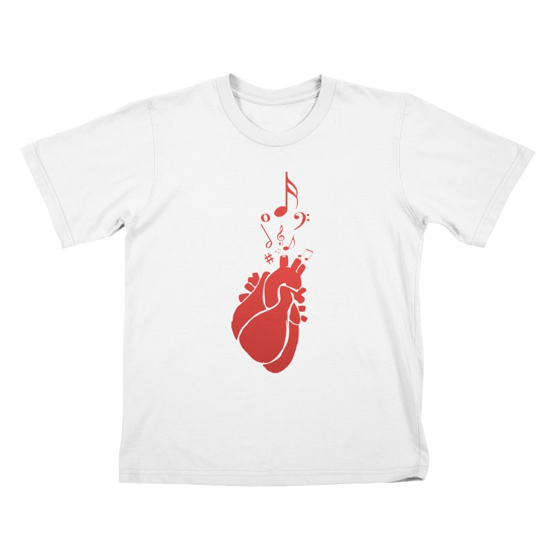 Heart Beat Kids T-Shirt by TerrificPain's Artist Shop by SaulTP