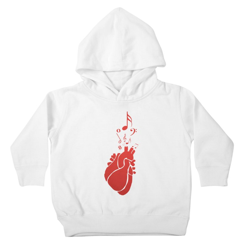 Heart Beat Kids Toddler Pullover Hoody by TerrificPain's Artist Shop by SaulTP
