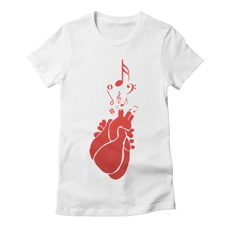 Heart Beat Women's Fitted T-Shirt by TerrificPain's Artist Shop by SaulTP
