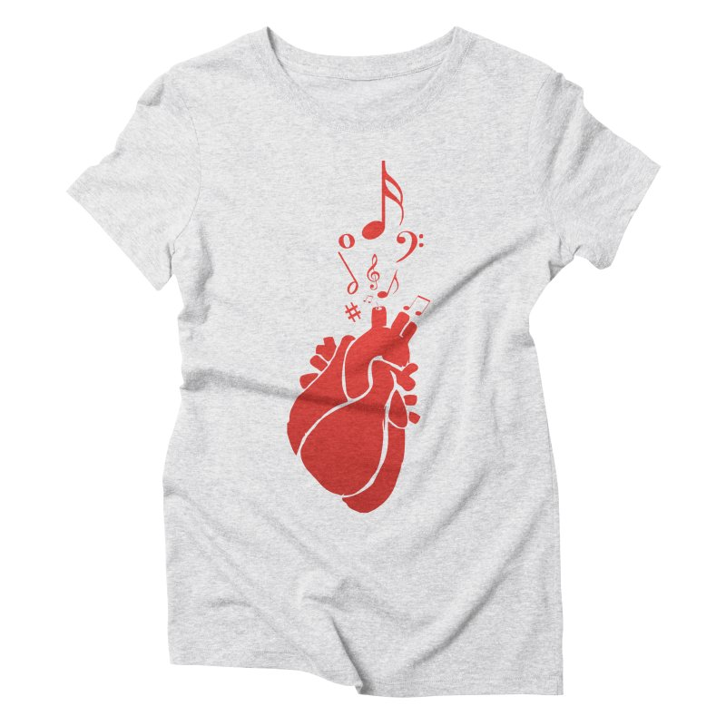 Heart Beat Women's Triblend T-Shirt by TerrificPain's Artist Shop by SaulTP