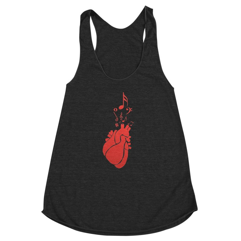 Heart Beat Women's Racerback Triblend Tank by TerrificPain's Artist Shop by SaulTP