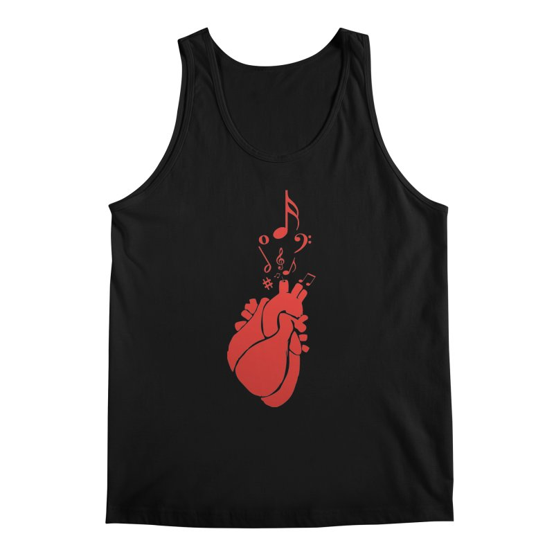 Heart Beat Men's Tank by TerrificPain's Artist Shop