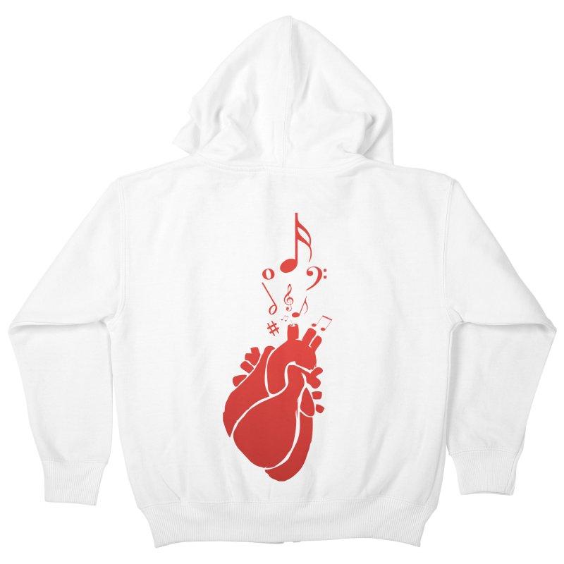 Heart Beat Kids Zip-Up Hoody by TerrificPain's Artist Shop