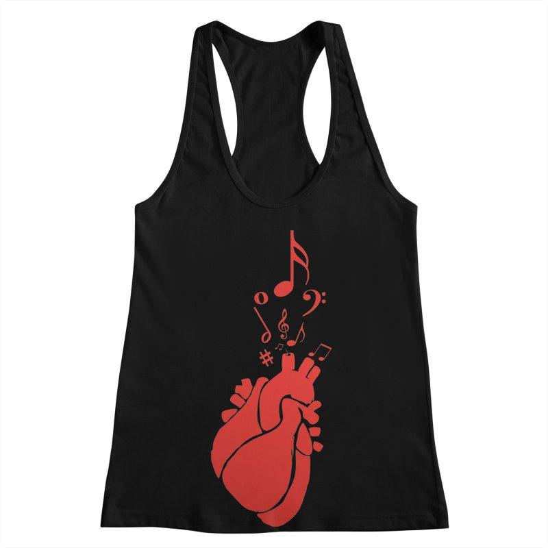Heart Beat Women's Racerback Tank by TerrificPain's Artist Shop by SaulTP
