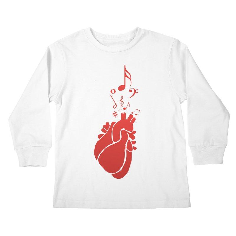 Heart Beat Kids Longsleeve T-Shirt by TerrificPain's Artist Shop by SaulTP