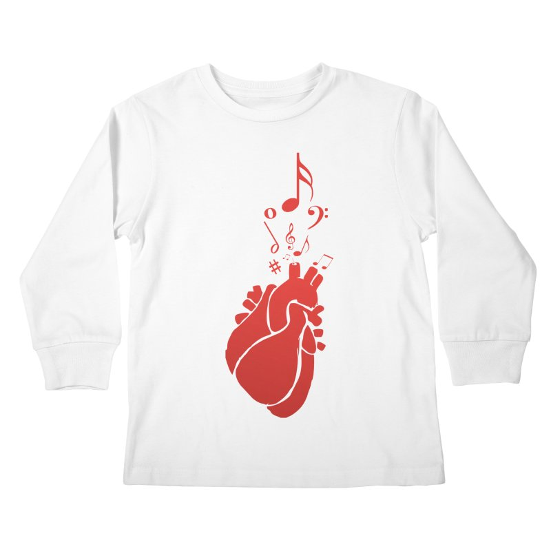 Heart Beat Kids Longsleeve T-Shirt by TerrificPain's Artist Shop