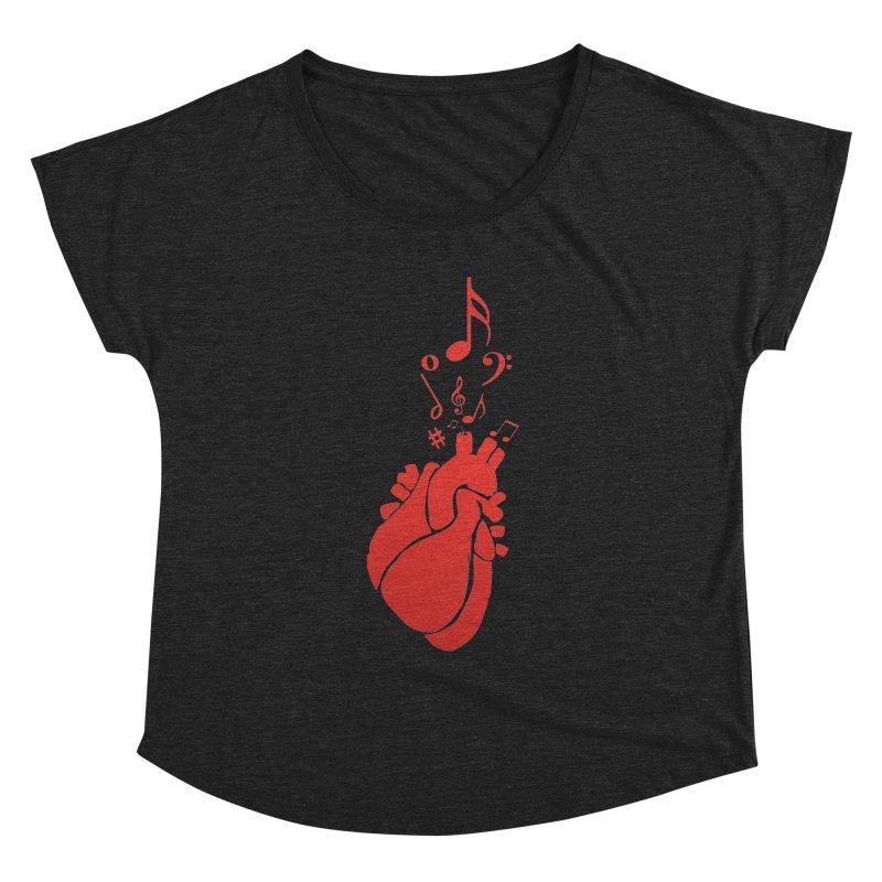 Heart Beat Women's Scoop Neck by TerrificPain's Artist Shop by SaulTP