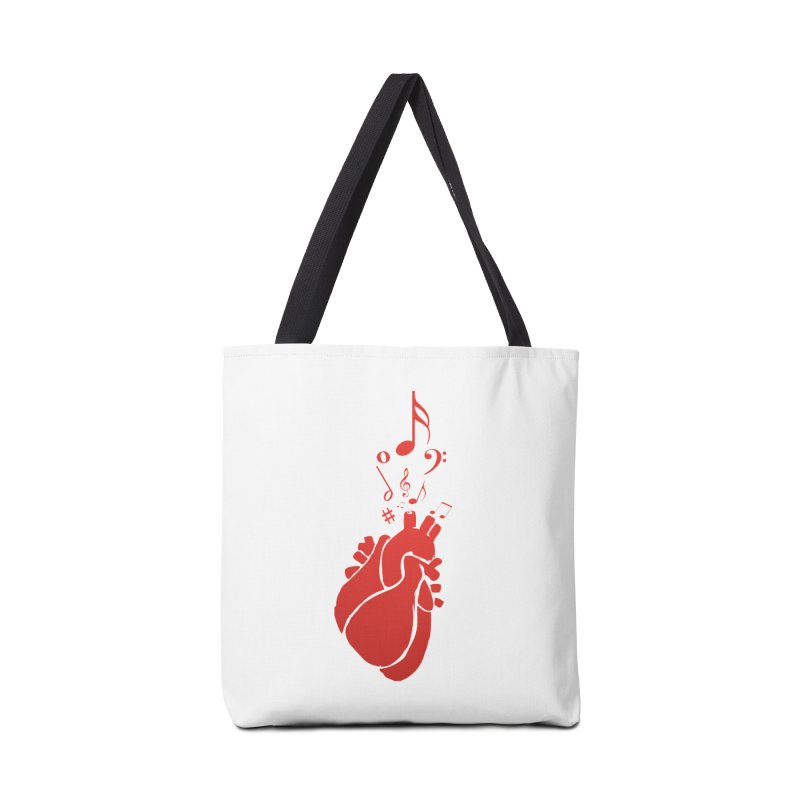 Heart Beat Accessories Tote Bag Bag by TerrificPain's Artist Shop by SaulTP