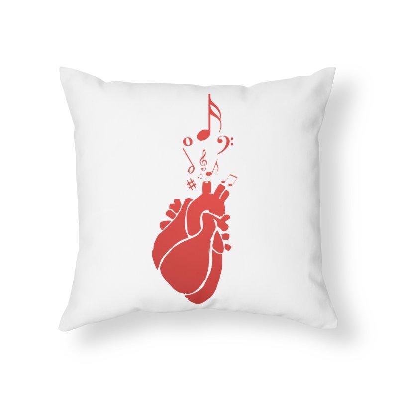 Heart Beat Home Throw Pillow by TerrificPain's Artist Shop by SaulTP