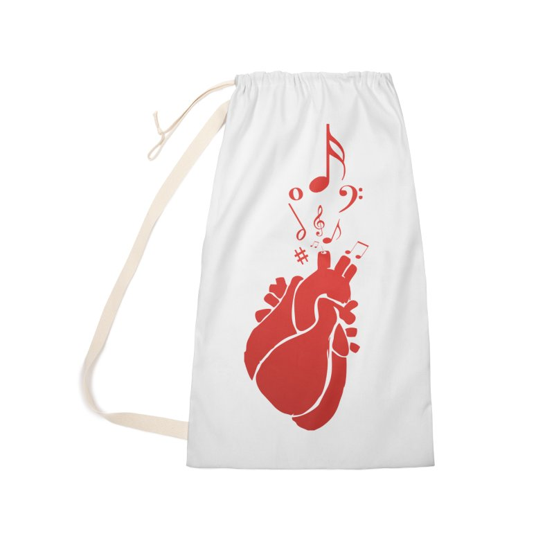 Heart Beat Accessories Laundry Bag Bag by TerrificPain's Artist Shop by SaulTP