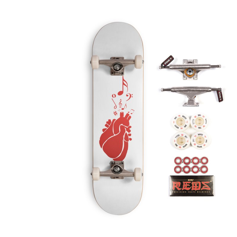 Heart Beat Accessories Complete - Pro Skateboard by TerrificPain's Artist Shop by SaulTP