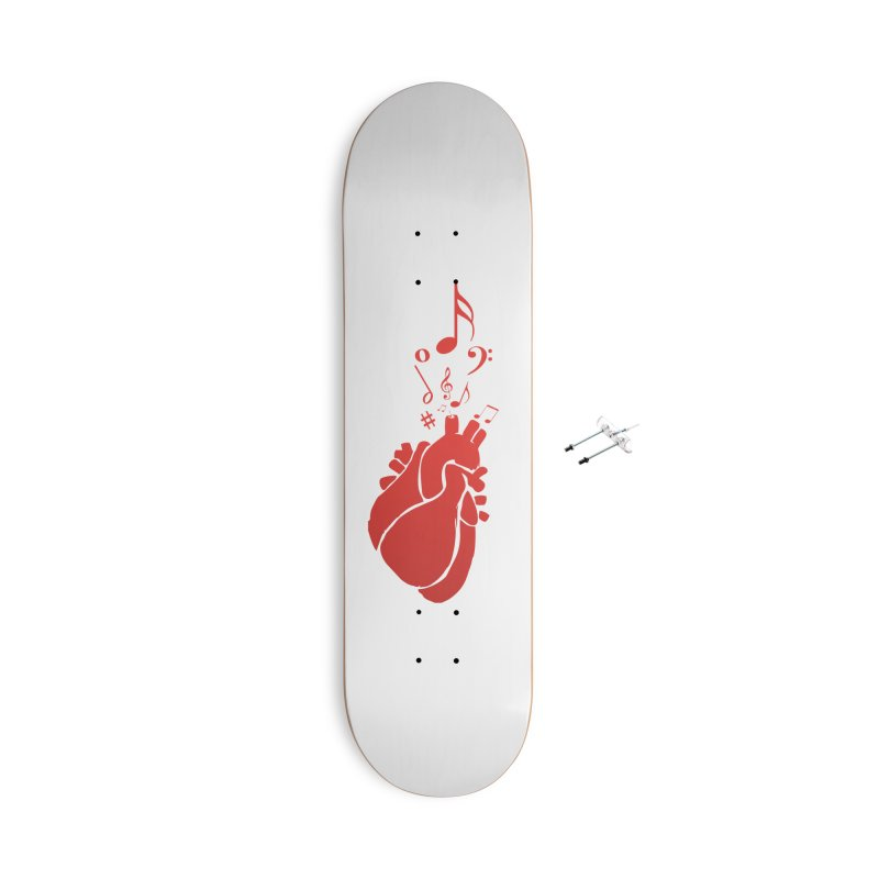 Heart Beat Accessories With Hanging Hardware Skateboard by TerrificPain's Artist Shop by SaulTP