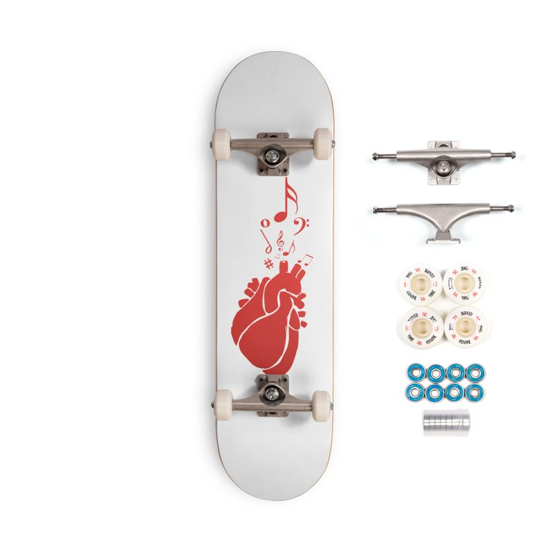 Heart Beat Accessories Complete - Premium Skateboard by TerrificPain's Artist Shop by SaulTP