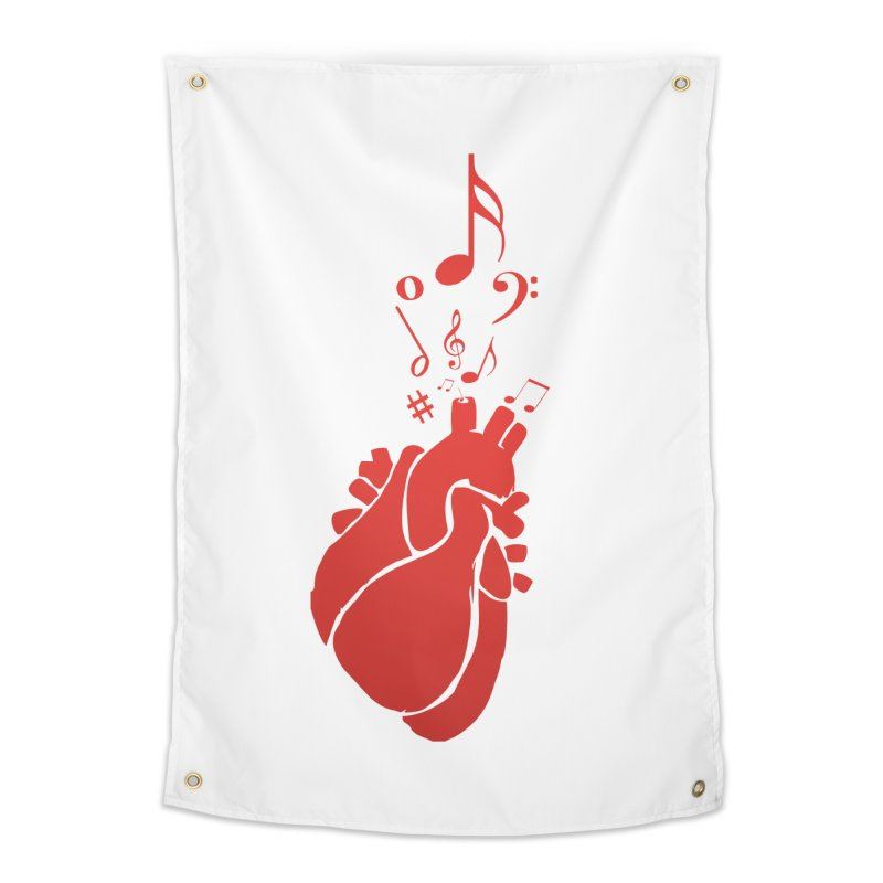 Heart Beat Home Tapestry by TerrificPain's Artist Shop by SaulTP