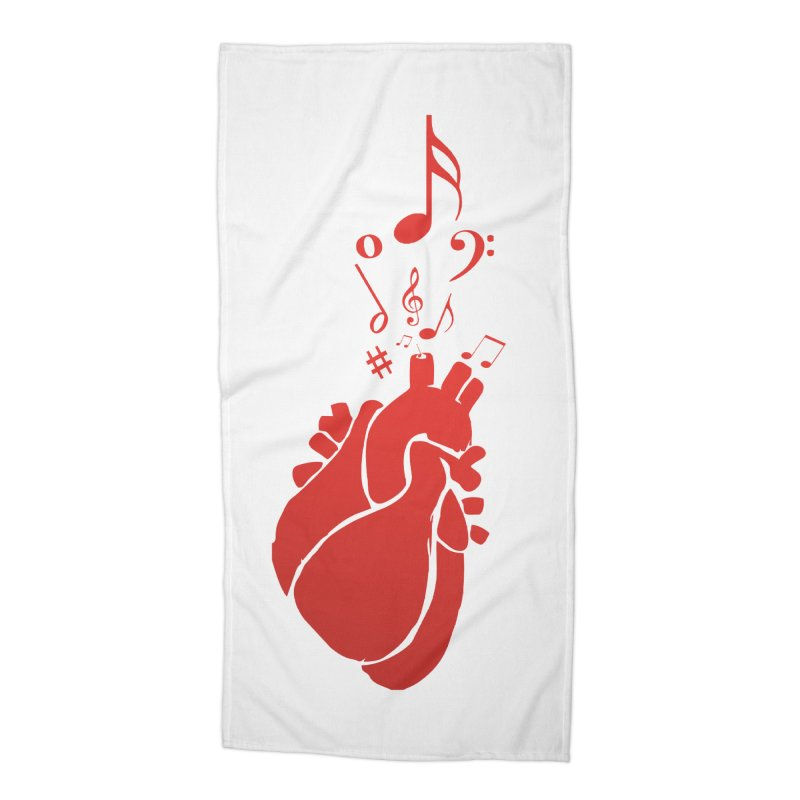 Heart Beat Accessories Beach Towel by TerrificPain's Artist Shop by SaulTP
