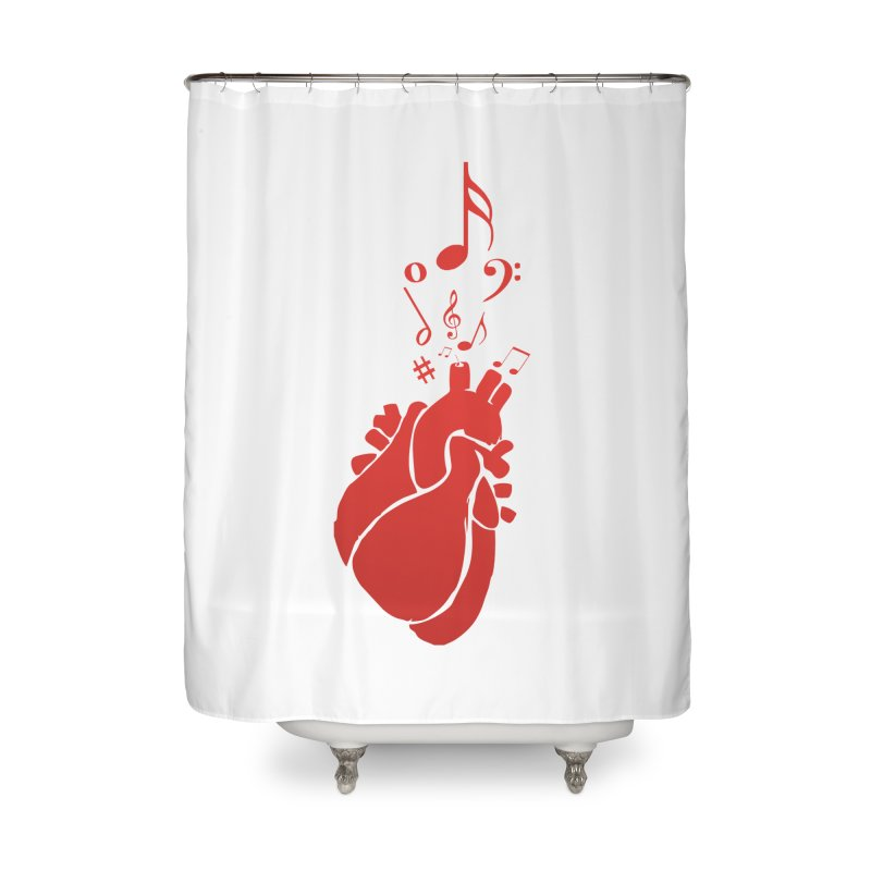 Heart Beat Home Shower Curtain by TerrificPain's Artist Shop by SaulTP