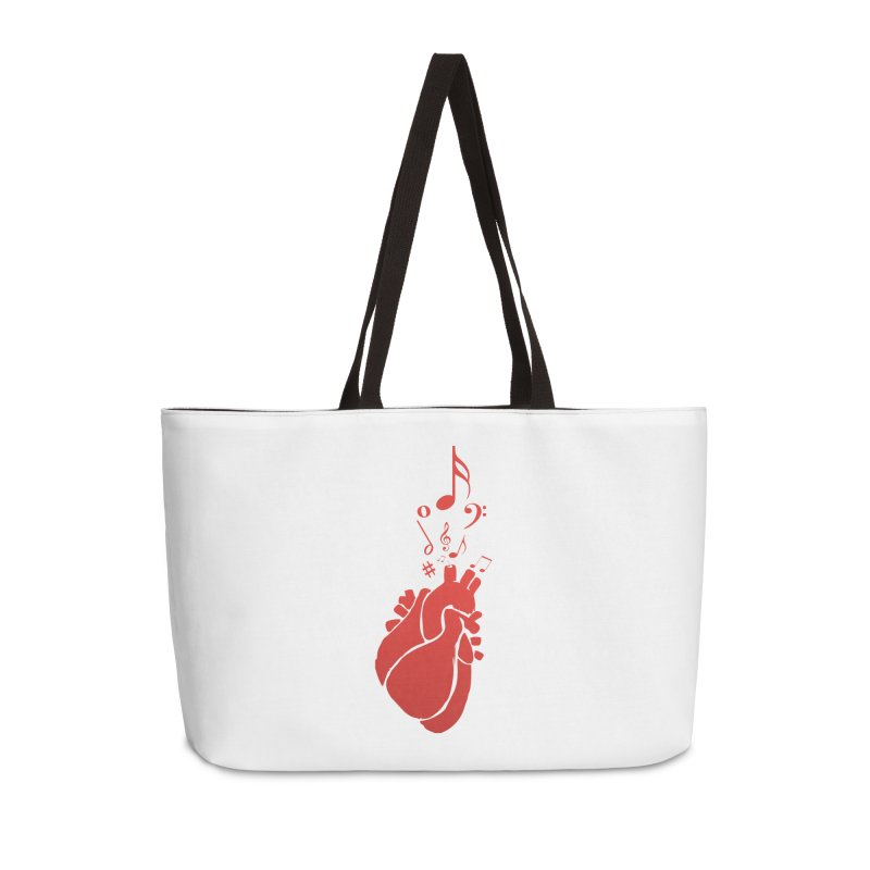 Heart Beat Accessories Weekender Bag Bag by TerrificPain's Artist Shop by SaulTP