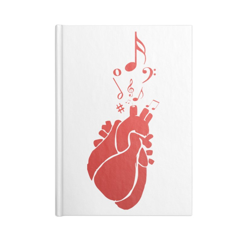 Heart Beat Accessories Lined Journal Notebook by TerrificPain's Artist Shop by SaulTP