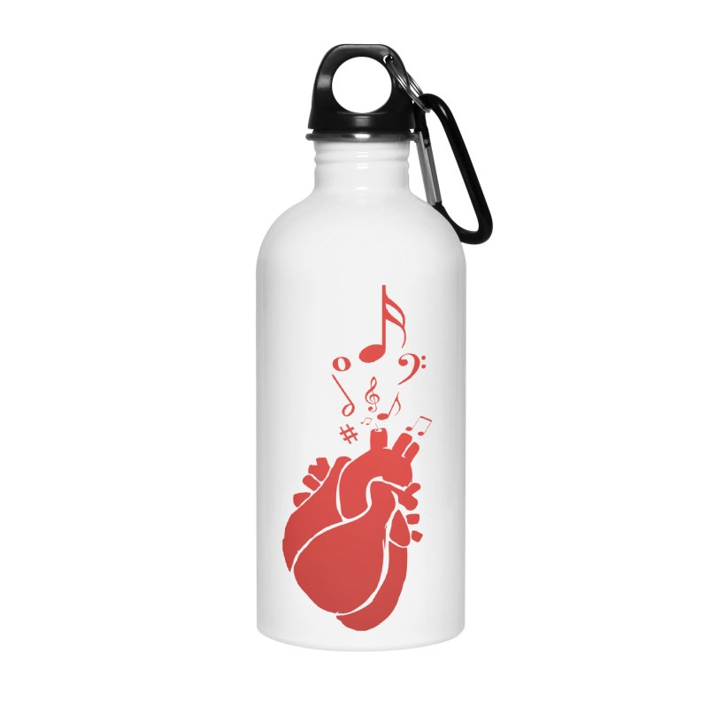 Heart Beat Accessories Water Bottle by TerrificPain's Artist Shop by SaulTP