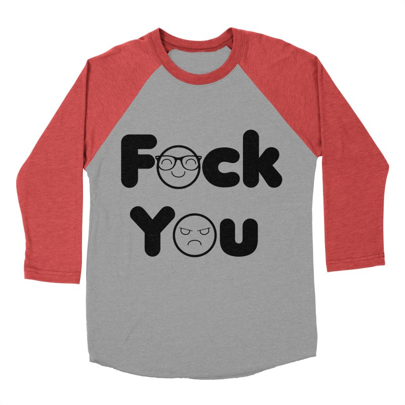F what? Men's Baseball Triblend T-Shirt by TerrificPain's Artist Shop