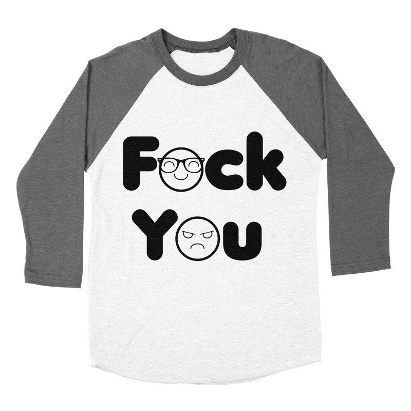 F what? Men's Baseball Triblend Longsleeve T-Shirt by TerrificPain's Artist Shop by SaulTP