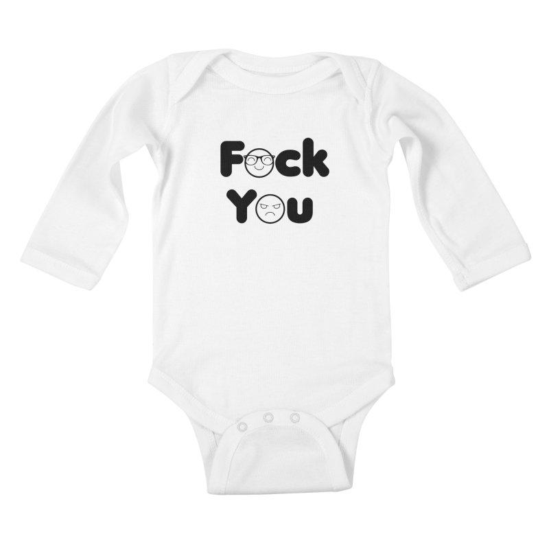 F what? Kids Baby Longsleeve Bodysuit by TerrificPain's Artist Shop by SaulTP