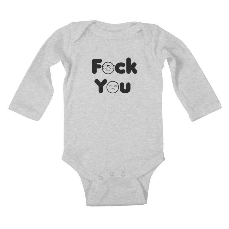 F what? Kids Baby Longsleeve Bodysuit by TerrificPain's Artist Shop
