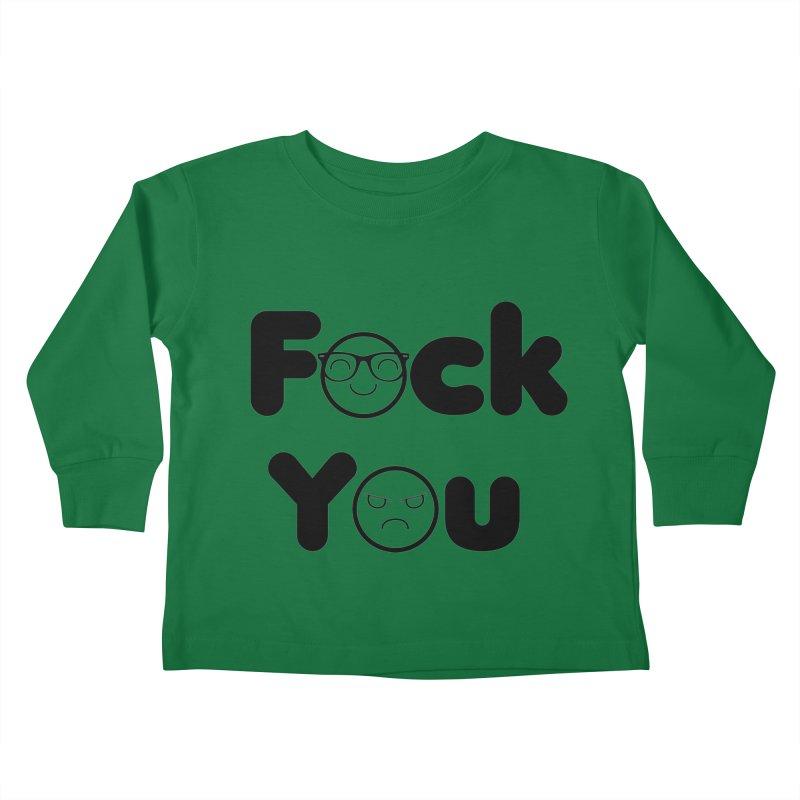 F what? Kids Toddler Longsleeve T-Shirt by TerrificPain's Artist Shop by SaulTP