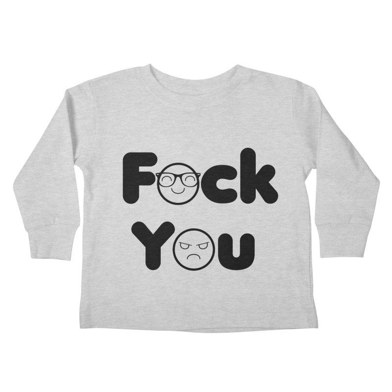 F what? Kids Toddler Longsleeve T-Shirt by TerrificPain's Artist Shop